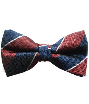 Queen's Dragoon Guards Silk Non Crease (Pretied) Bow Tie - regimentalshop.com