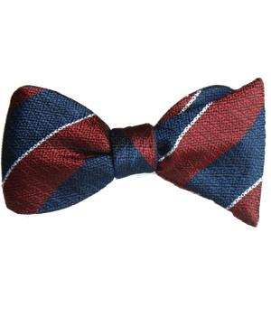 Queen's Dragoon Guards Silk Non Crease (Self Tie) Bow Tie - regimentalshop.com