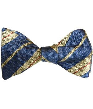 3 Royal Horse Artillery Silk Non Crease (Self Tie) Bow Tie - regimentalshop.com