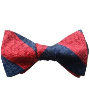 Adjutant General's Corps Silk Non Crease (Self Tie) Bow Tie - regimentalshop.com