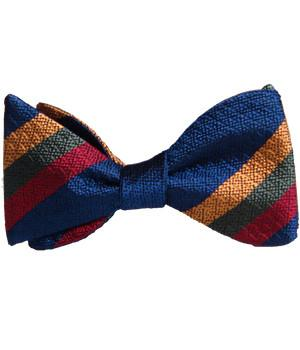Duke of Lancaster's Regiment Silk Non Crease Self Tie Bow Tie - original design - regimentalshop.com