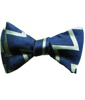 "Fleet Air Arm ""Zig Zag"" (Self Tie) Silk Bow Tie - regimentalshop.com"