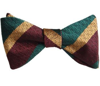 Royal Dragoon Guards Silk Non Crease (Self Tie) Bow Tie - regimentalshop.com