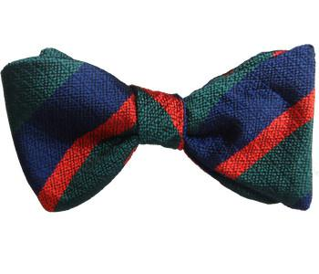 Royal Irish Regiment Silk Non Crease (Self Tie) Bow Tie - regimentalshop.com