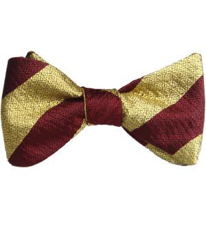 Royal Regiment of Fusiliers Silk Non Crease Self Tie Bow Tie - regimentalshop.com