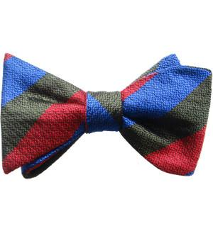 Royal Welsh Silk Non Crease Self Tie Bow Tie - regimentalshop.com