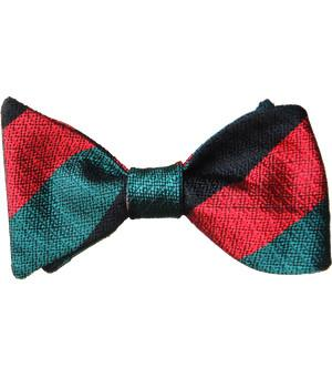 Yorkshire Regiment Silk Non Crease (Self Tie) Bow Tie - regimentalshop.com