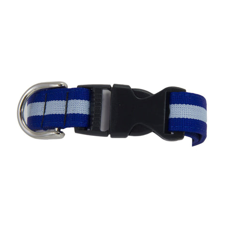 Light and Dark Blue Striped Dog Collar