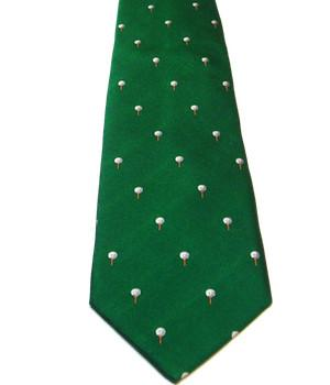 Golf Balls on Tee Silk Tie