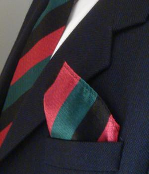 Yorkshire Regiment Silk Non Crease Pocket Square - regimentalshop.com
