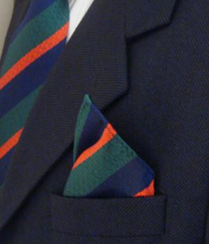 Royal Irish Regiment Silk Non Crease Pocket Square - regimentalshop.com