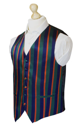 Royal Irish Regiment Silk Non Crease Waistcoat - regimentalshop.com