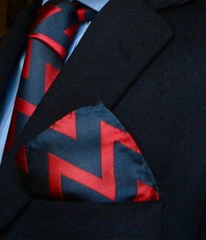 Royal Artillery Silk Pocket Square - regimentalshop.com