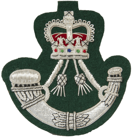 The Rifles Blazer Badge - green backing - regimentalshop.com