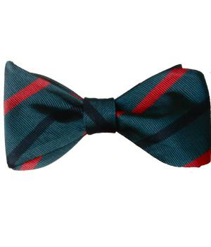 Royal Green Jackets Silk (Self Tie) Bow Tie
