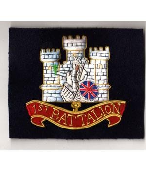 1st Battalion Royal Anglian Regiment (Vikings) Blazer Badge - regimentalshop.com
