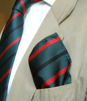 Royal Green Jackets Silk Pocket Square - regimentalshop.com