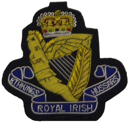 8th King's Royal Irish Hussars Blazer Badge - regimentalshop.com