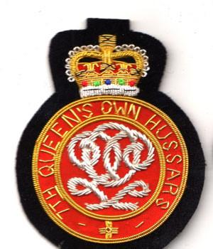 7th Queen's Own Hussars Blazer Badge