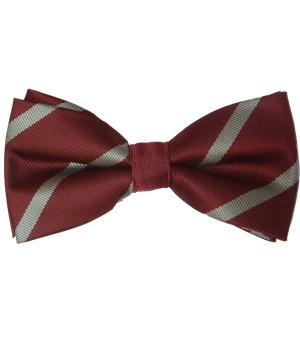 Duke of Wellington's Regiment Polyester (Pretied) Bow Tie - regimentalshop.com