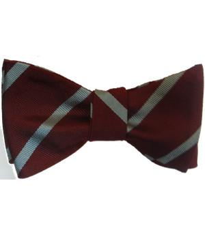 Duke of Wellington's Regiment Silk (Self Tie) Bow Tie - regimentalshop.com