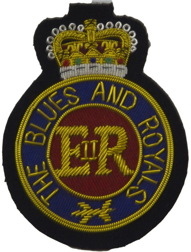 "The Blues and Royals ""Round"" Blazer Badge - regimentalshop.com"