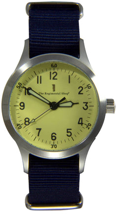 """Decade"" Military Watch with Navy Strap"