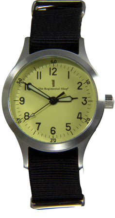 """Decade"" Military Watch with Black Strap"