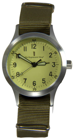 """Decade"" Military Watch with khaki strap"