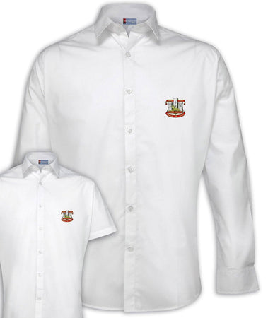 Devonshire and Dorset Regimental Poplin Shirt - Short or Long Sleeves