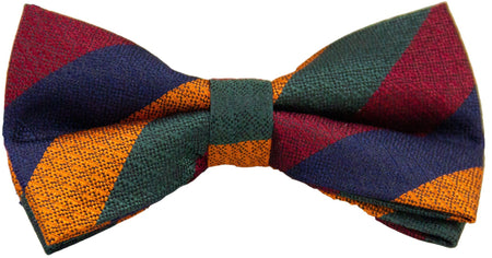 Duke of Lancaster's Regiment Silk Non Crease Pre-tied Bow Tie - (New Stripe) - regimentalshop.com