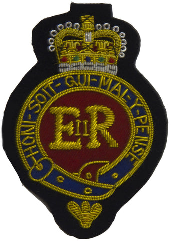 Household Cavalry Queen's Crown Blazer Badge - regimentalshop.com