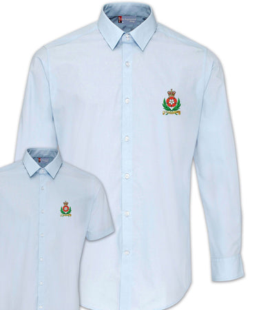 Intelligence Corps Regimental Poplin Shirt - Short or Long Sleeves