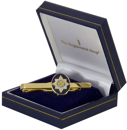 Irish Guards Gilt Enamel Tie Clip