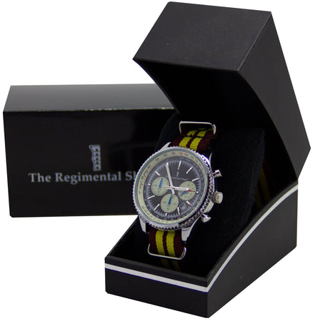 King's Royal Hussars Regiment Military Chronograph Watch - regimentalshop.com
