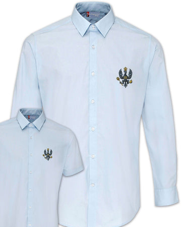 King's Royal Hussars (KRH) Regimental Poplin Shirt - Short or Long Sleeves