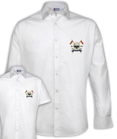 The Royal Lancers Regimental Poplin Shirt - Short or Long Sleeves - regimentalshop.com