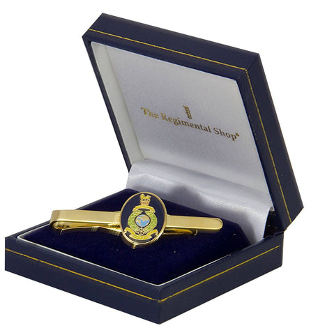 Royal Marines Gilt Enamel Tie Clip