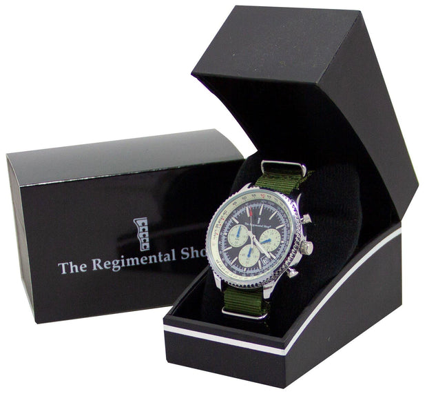 Olive Green Military Chronograph Watch - regimentalshop.com