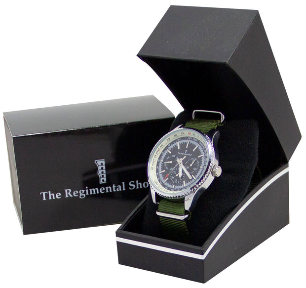 Olive  Green Military Multi Dial Watch - regimentalshop.com