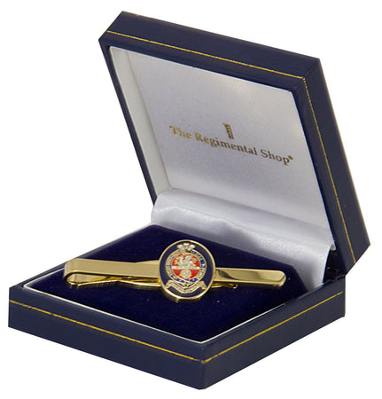 Princess of Wales's Royal Regiment (PWRR) Gilt Enamel Tie Clip - regimentalshop.com