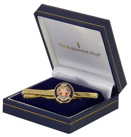 Princess of Wales's Royal Regiment (PWRR) Gilt Enamel Tie Clip