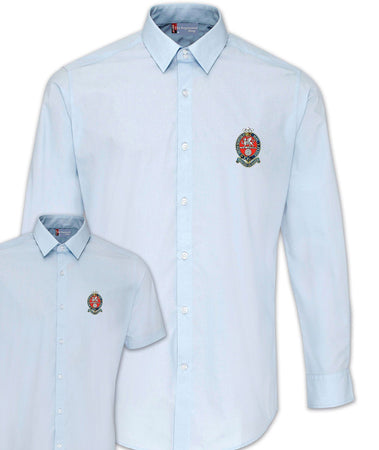 Princess of Wales's Royal Regiment Poplin Shirt - Short or Long Sleeves - regimentalshop.com