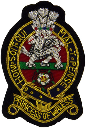 Princess of Wales's Royal Regiment Blazer Badge - regimentalshop.com