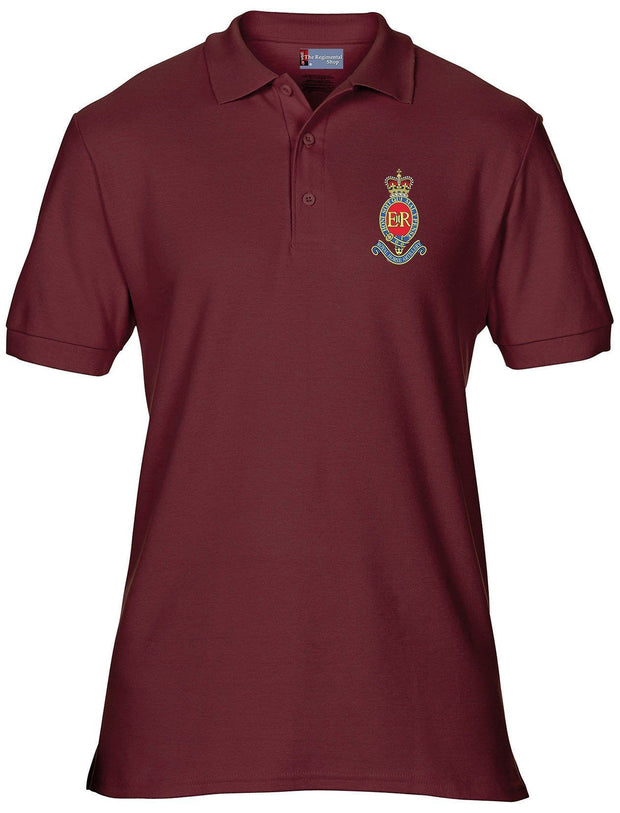 Royal Horse Artillery Polo Shirt - Small - Maroon - regimentalshop.com