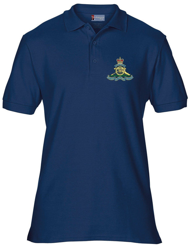 Royal Artillery Polo Shirt - Medium - Navy Blue - regimentalshop.com