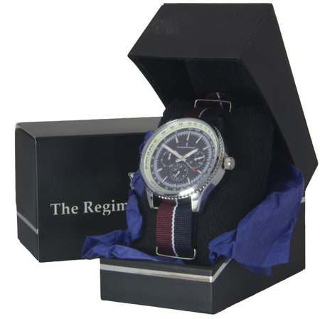 Queen's Dragoon Guards Military Multi Dial Watch - regimentalshop.com