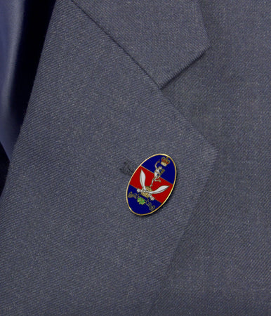 Queen's Gurkha Signals Lapel Badge - regimentalshop.com