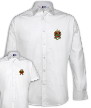 Queen's Regiment - Regimental Poplin Shirt - Short or Long Sleeves - regimentalshop.com