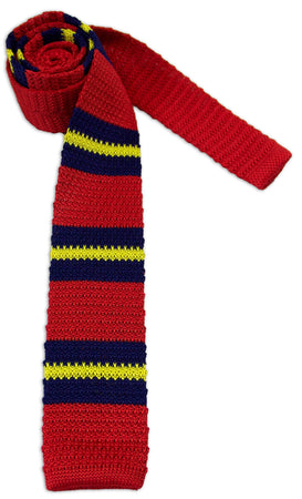 Royal Artillery 'Stable Belt' Knitted Silk Tie - regimentalshop.com